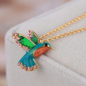 Kate Spade Colorful Hummingbird Necklace